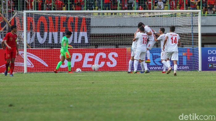 Timnas Indonesia U-19 kalah 2-4 dari Iran. (Foto: Rifkianto Nugroho)