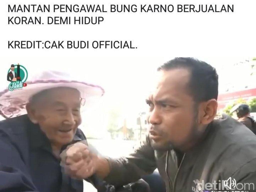 Viral Kakek Penjual Koran di Surabaya Ngaku Mantan Pengawal Bung Karno