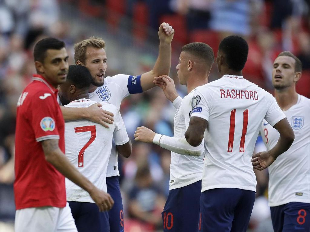Kualifikasi Piala Eropa 2020: Kane Hat-trick, Inggris Hajar Bulgaria 4-0