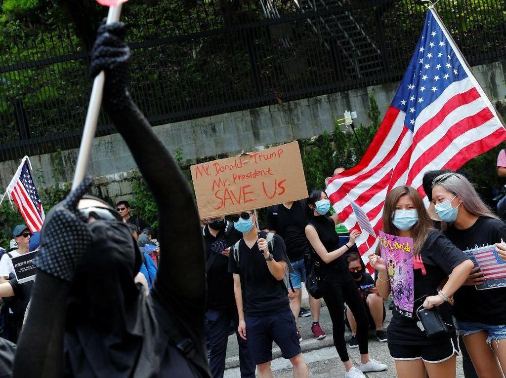 China Peringatkan Demonstran Hong Kong karena Minta Bantuan AS