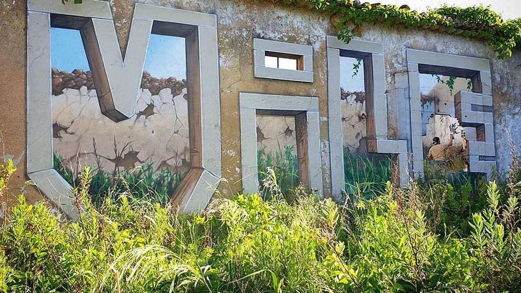 Keren! Kumpulan Bangunan Disulap bagaikan Lukisan Transparan