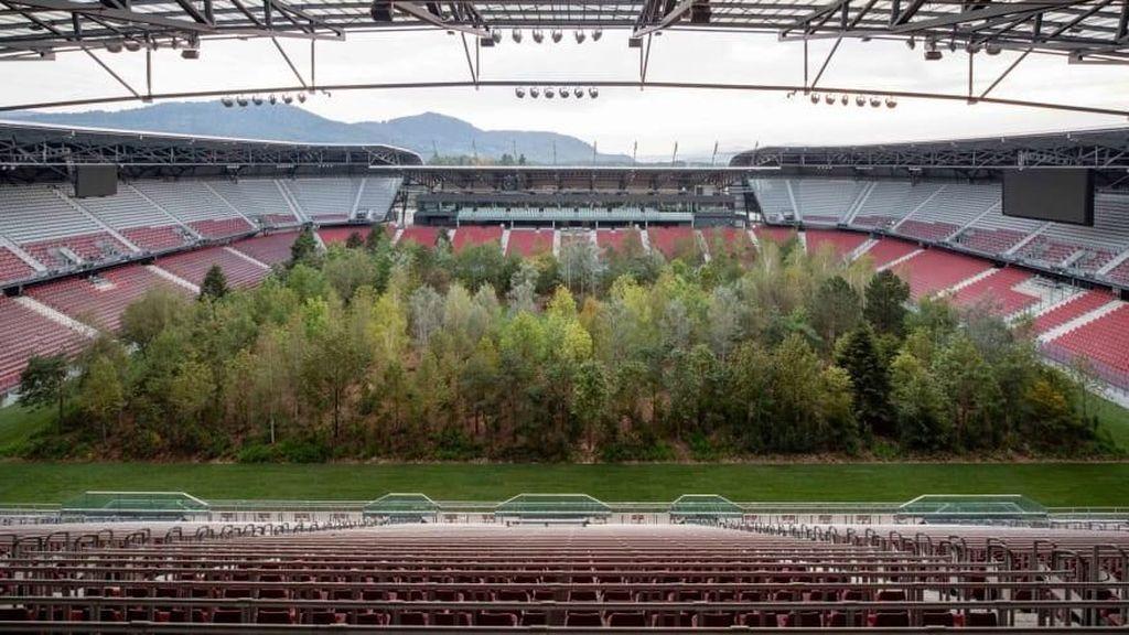 Foto: Hutan di Dalam Stadion Sepakbola