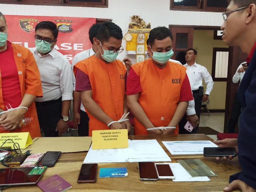 Tampung Duit Rp 1 Miliar, Dua Pembajak Email di Bali Ditangkap
