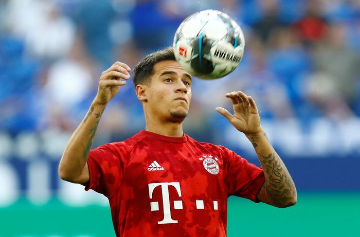 Soccer Football - Bundesliga - Schalke 04 v Bayern Munich - Veltins-Arena, Gelsenkirchen, Germany - August 24, 2019  Bayern Munichs Philippe Coutinho during the warm up before the match   REUTERS/Ralph Orlowski  DFL regulations prohibit any use of photographs as image sequences and/or quasi-video