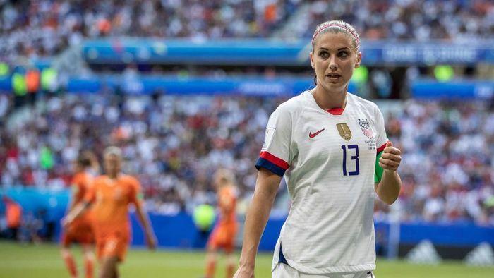 Striker timnas putri Amerika Serikat Alex Morgan. (Foto: Maja Hitij/Getty Images)