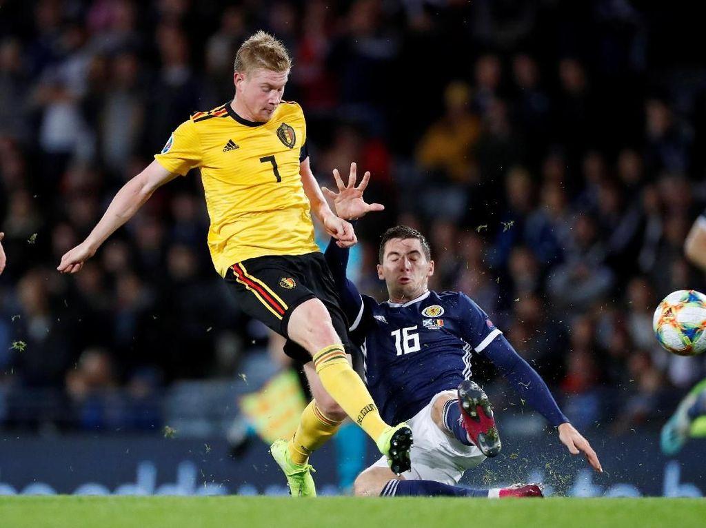 Hasil Kualifikasi Piala Eropa: De Bruyne Gemilang, Belgia Hajar Skotlandia 4-0