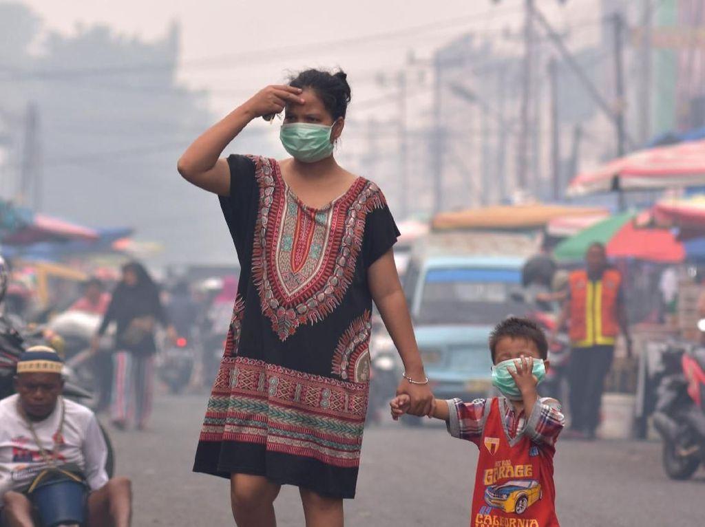 Status Pencemaran Dicabut, Udara di Pekanbaru Masih Tak Sehat Pagi Ini