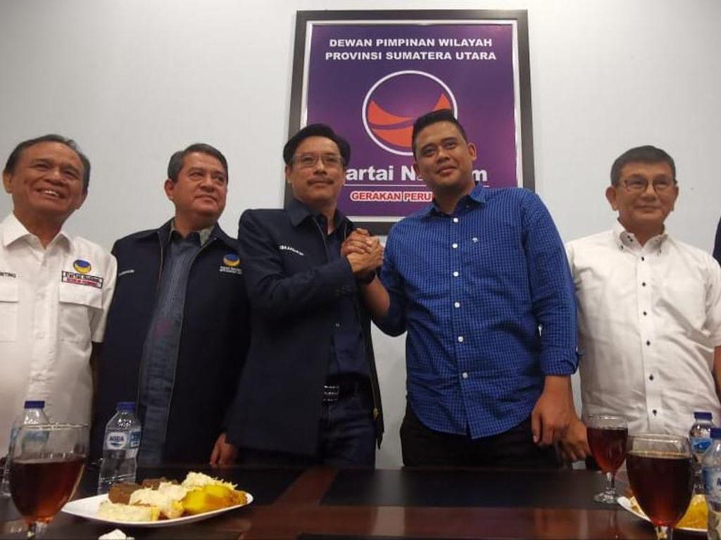 Masuk Radar Pilwalkot Medan, Menantu Jokowi Bertemu DPW NasDem Sumut