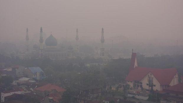 kabut asap di Sumatera