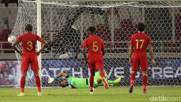 Timnas Indonesia kalah 0-3 saat menjamu Thailand (Agung Pambudhy/detikcom)