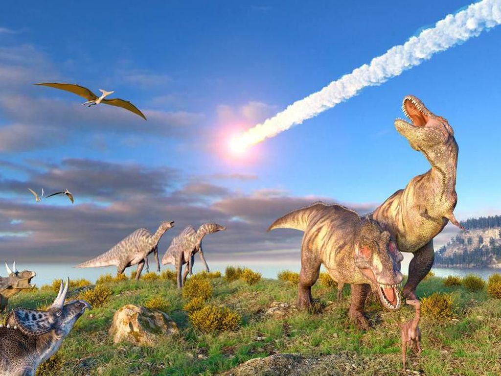 Dinosaurus Punah Bukan Cuma karena Asteroid