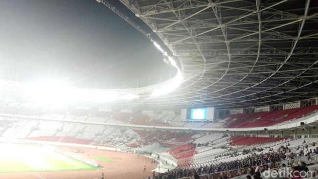 GBK sepi penonton di laga Indonesia vs Thailand (Amalia Dwi Septi/detikSport)