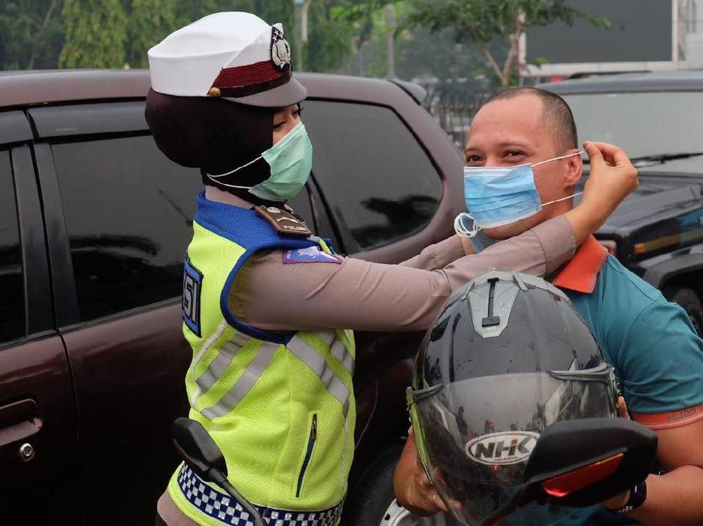 PSBB Tangerang Hari Ketiga, Masih Ada Pemotor Tak Pakai Masker