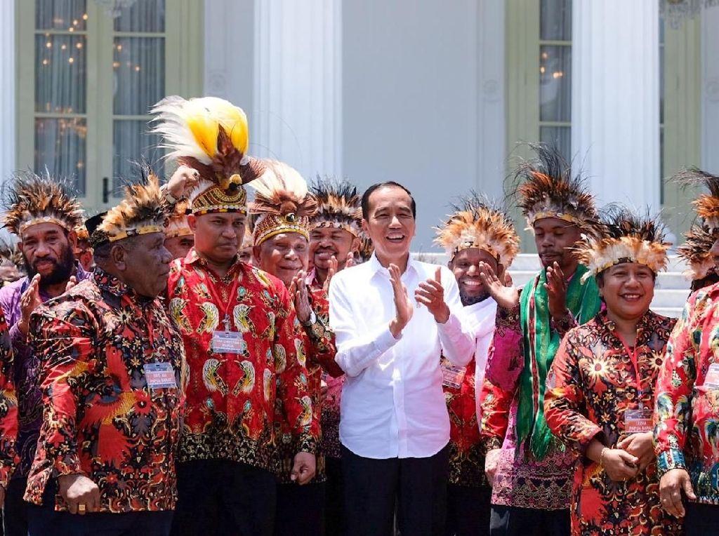 Tokoh Papua yang Diundang Jokowi Eks Timses, Istana: Kebetulan Saja