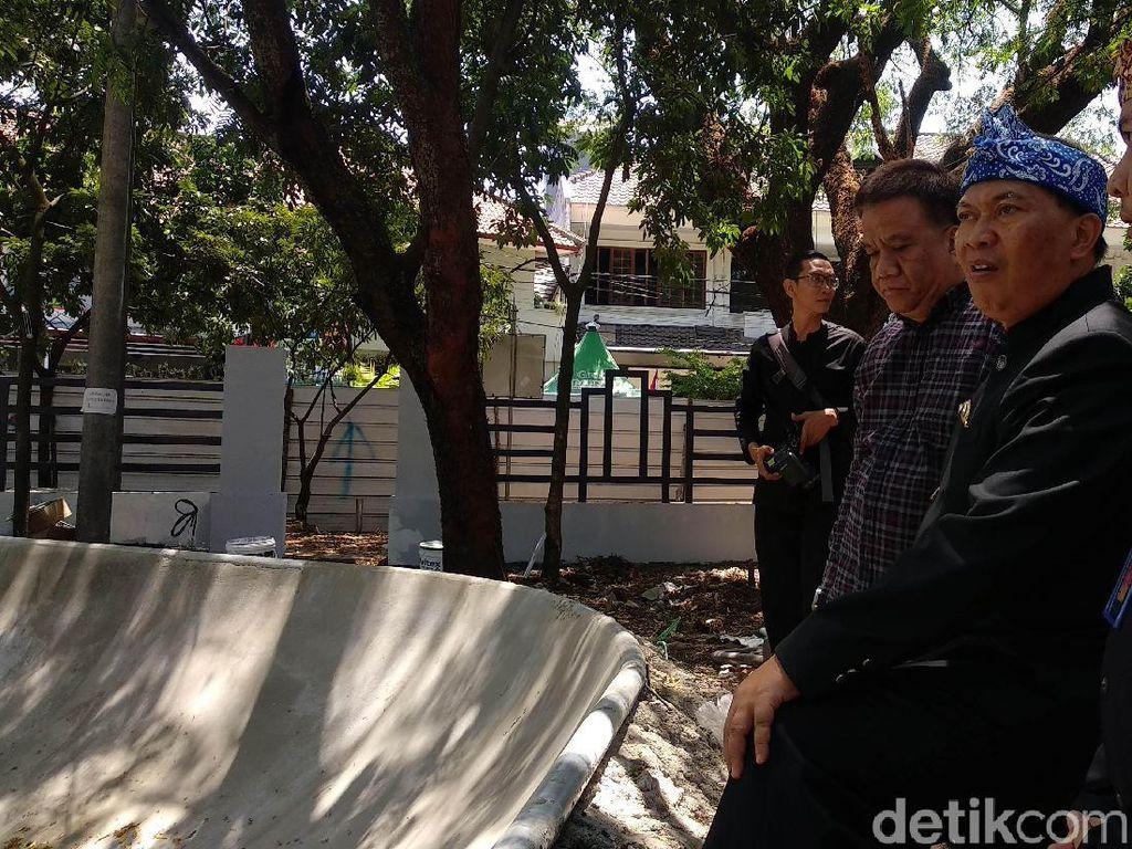 Pembangunan Skatepark Taman Pramuka Bandung Selesai Akhir September