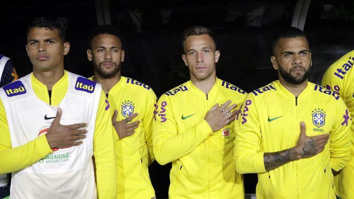 Timnas Brasil kalah setelah setahun (AP Photo/Marcio Jose Sanchez)