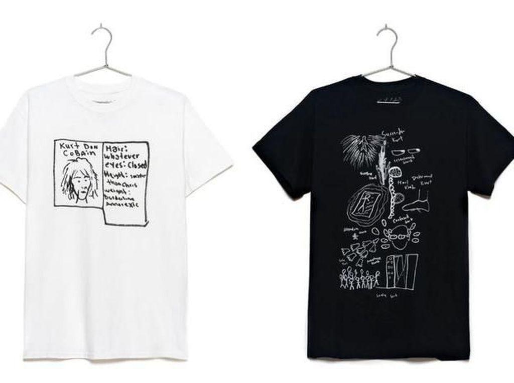 Coretan Tangan Kurt Cobain Jadi Desain Clothing Line