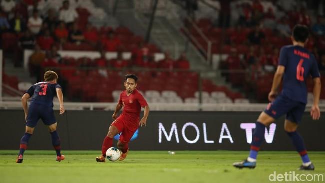 GBK sepi saat Indonesia kalah dari Thailand di Kualifikasi Piala Dunia 2022 (Agung Pambudhy/detikSport)