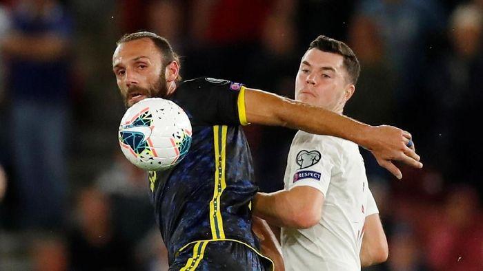 Inggris kebobolan tiga gol saat menjamu Kosovo. (Foto: Andrew Boyers/Action Images via Reuters)
