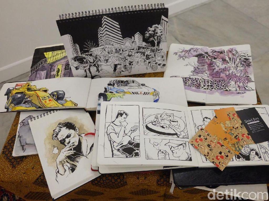 Ratusan Sketchers Unjuk Gigi di Festival Sketsa Indonesia