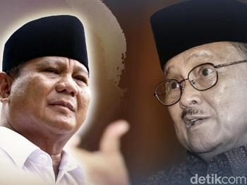 Kisah Ketegangan Habibie dan Prabowo