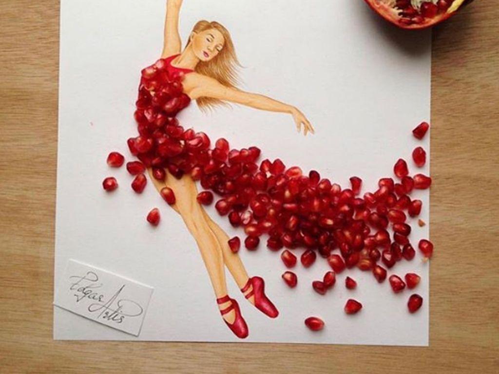 Seniman Ini Gunakan Makanan Untuk Membuat Sketsa Cantik