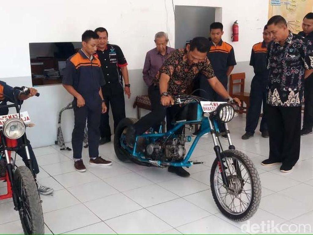 Motor Chopper dari Limbah Logam Karya Siswa SMK di Tegal