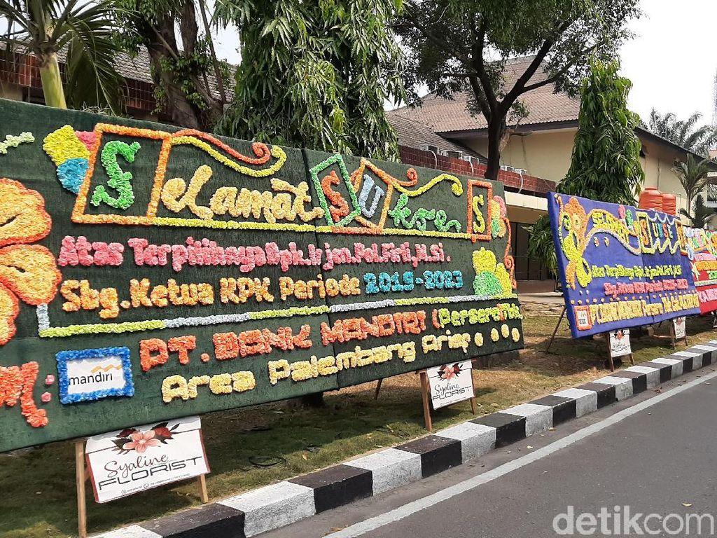 Irjen Firli Jadi Ketua KPK, Karangan Bunga Banjiri Halaman Polda Sumsel