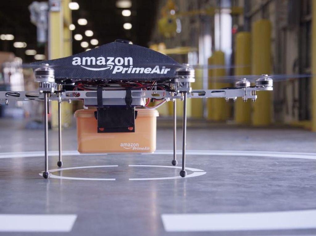 Penampakan Drone Pengirim Paket Amazon