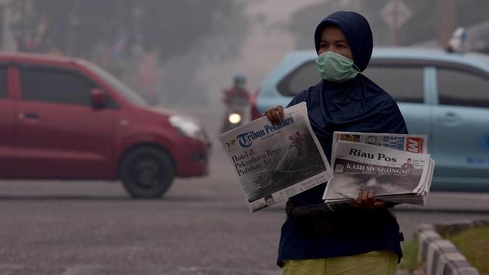 Kabut asap di Sumatera. (Foto: Antara Foto