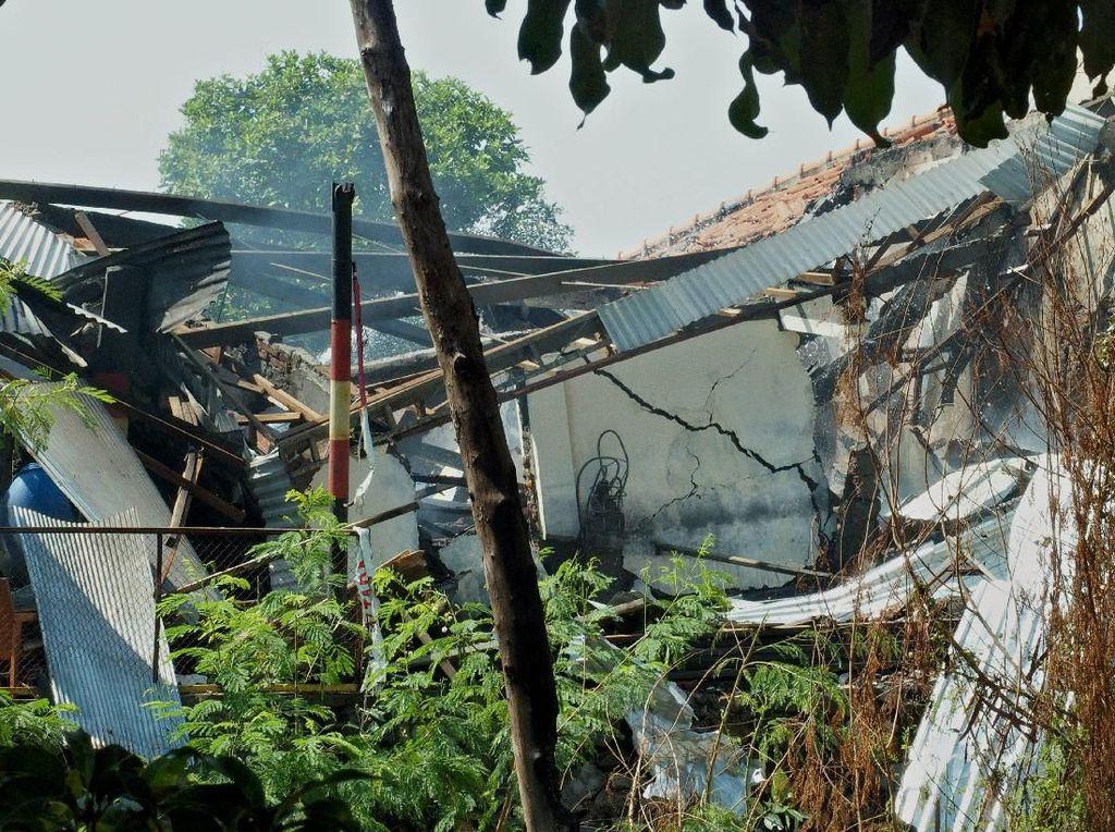 Begini Kondisi Gudang Bahan Peledak di Mako Brimob Srondol Usai Meledak
