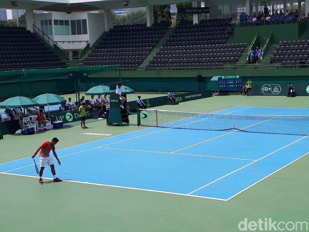 Rifqi Kalah, Indonesia Tertinggal 0-1 dari Selandia Baru di Piala Davis