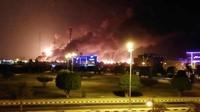 Ngeri! 17 Drone dan 2 Rudal Serang Kilang Minyak Arab Saudi