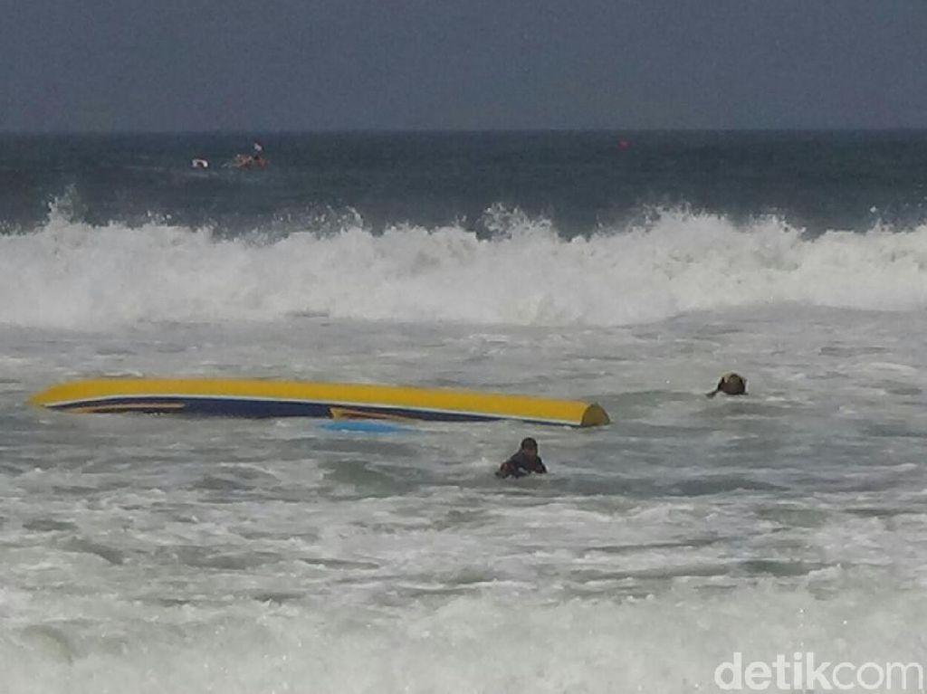 Perahu Terbalik di Kawasan Geopark Sukabumi Diduga Kelebihan Muatan