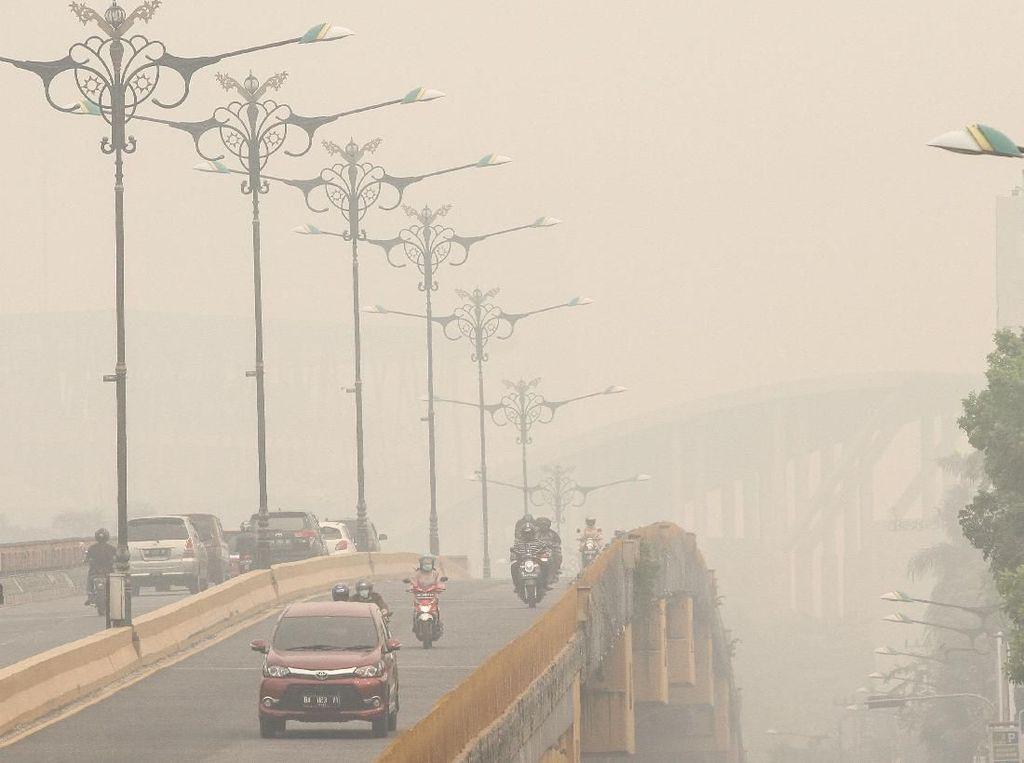 Kabut Asap Masih Pekat, Libur Anak Sekolah di Pekanbaru Diperpanjang