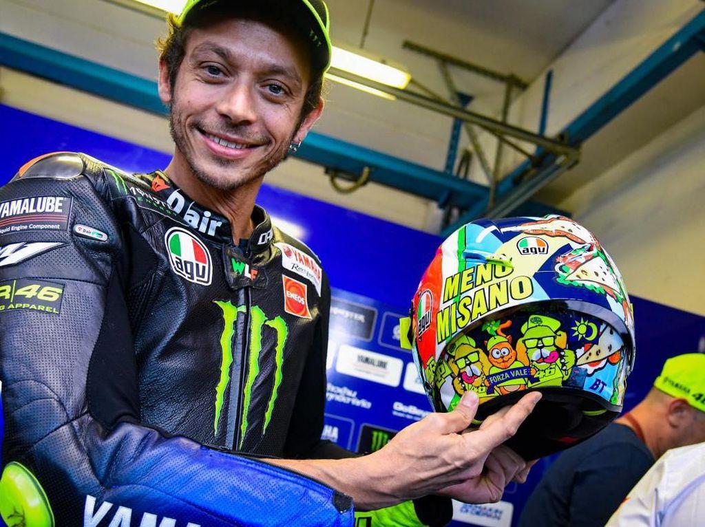 Gagal Naik Podium, Netizen Tetap Rayakan #Rossi400