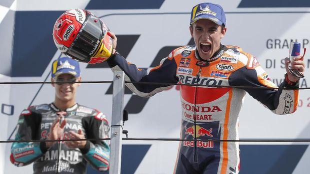Marc Marquez berhasil meraih podium pertama MotoGP San Marino 2019. (