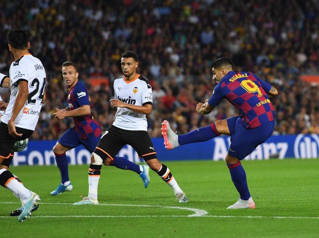 Barcelona Vs Valencia: Suarez Dua Gol, Blaugrana Menang 5-2