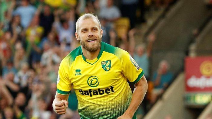 Teemu Pukki menggila di awal musim 2019/2020, dengan sudah bikin 8 gol dari penampilannya bersama Norwich City dan Timnas Finlandia. (Foto: John Sibley/REUTERS)