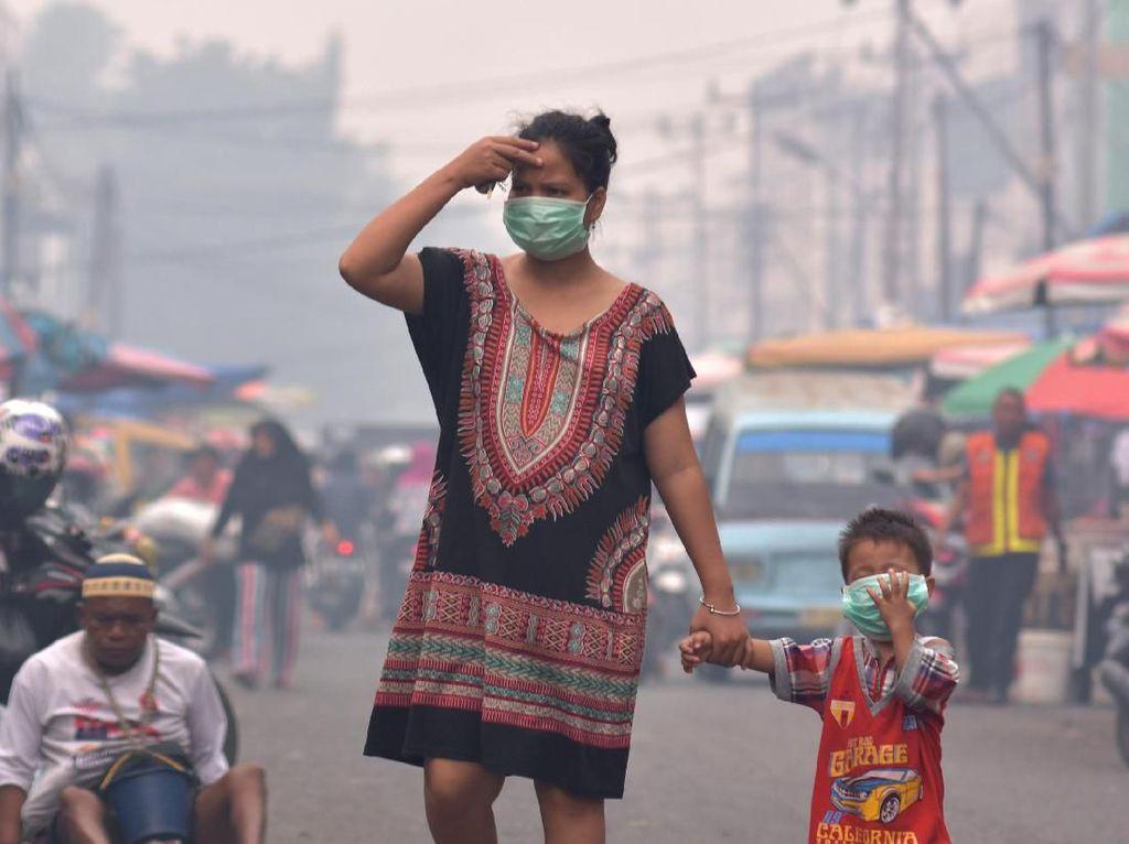 Kabut Asap di Riau Sudah Level Bahaya, Ibu Hamil dan Balita Paling Rentan