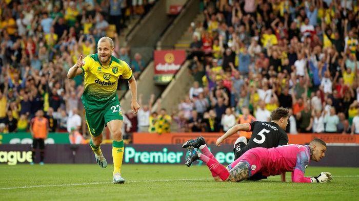 Manchester City kalah 2-3 di markas Norwich City dalam lanjutan Liga Inggris (Foto: John Sibley/Action Images via Reuters)