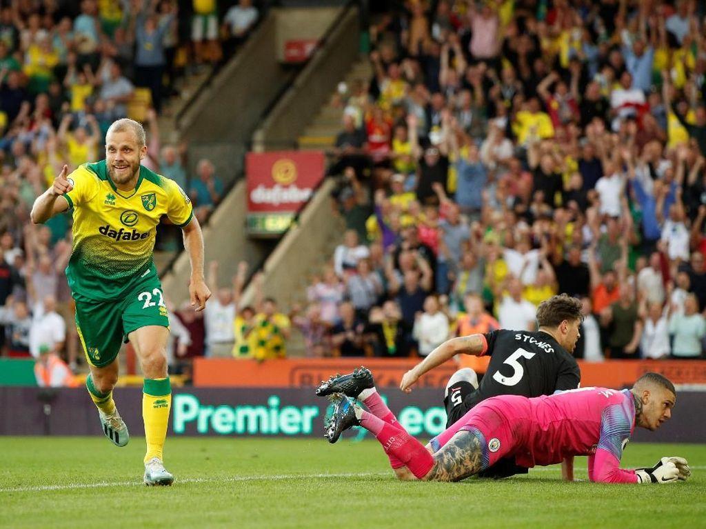 Norwich vs Manchester City: Juara Bertahan Tumbang 2-3