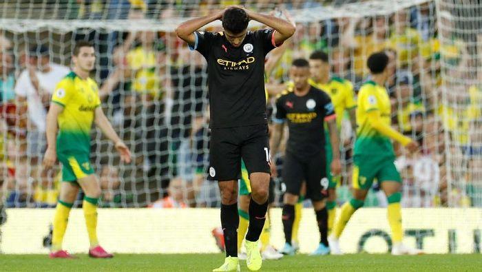 Manchester City kalah dari tim promosi, Norwich City, dalam lanjutan Liga Inggris (Foto: John Sibley/Action Images via Reuters)