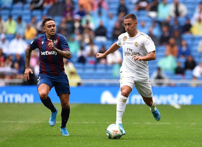 Eden Hazard membuat debut di laga resmi dengan Real Madrid. (Foto: Denis Doyle / Getty Images)