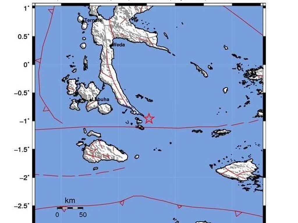 Gempa Kembali Terjadi di Halmahera Selatan, Kali Ini M 4,1