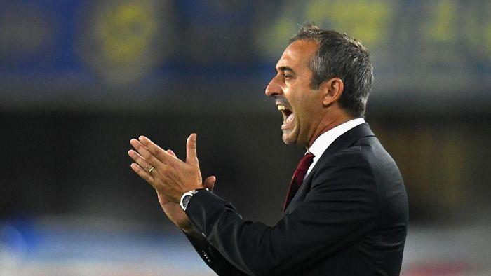 Pelatih AC Milan, Marco Giampaolo, menyambut derby Milan pertamanya. (Foto: Alessandro Sabattini/Getty Images)