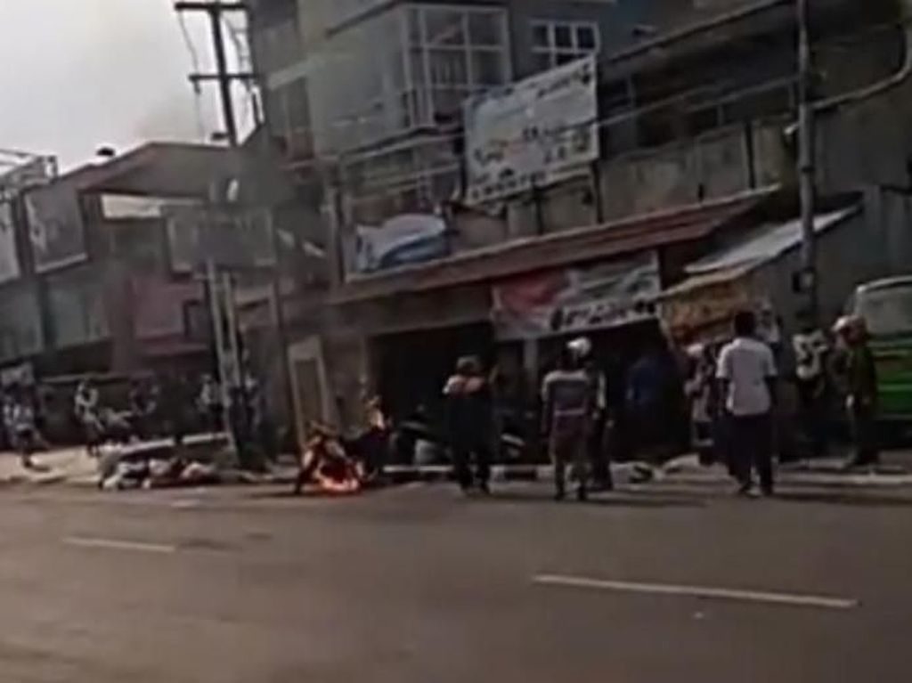 Heboh Pemuda Cianjur Bakar Motor Gegara Ditilang Polisi