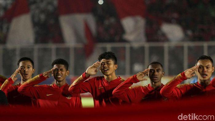 Timnas Indonesia mengalahkan Filipina di laga pertama Kualifikasi Piala Asia U-16 2020. (Foto: Rifkianto Nugroho/detikcom)