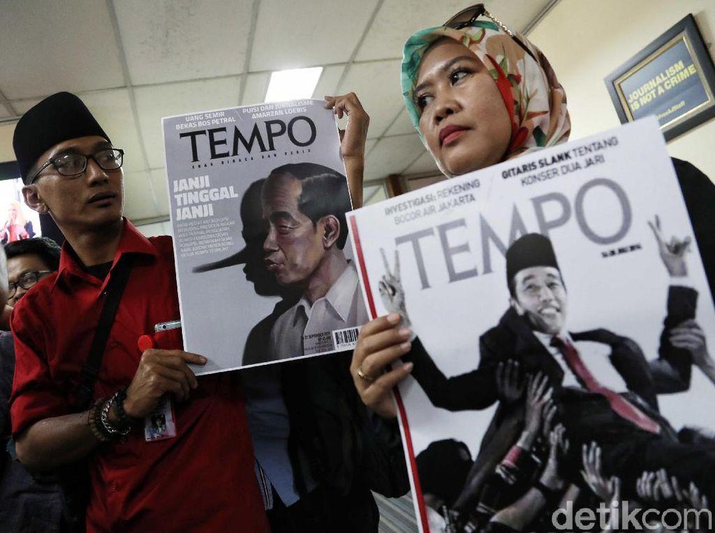 Relawan Jokowi Geruduk Dewan Pers Terkait Sampul Majalah Tempo