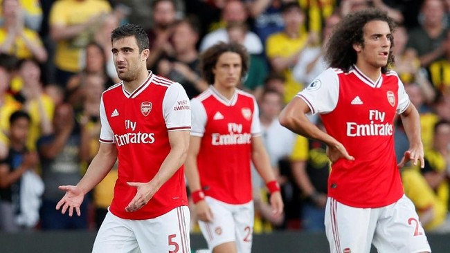 Sempat unggul dua gol, Arsenal dipaksa bermain imbang 2-2 oleh Watford (Foto: David Klein/Reuters)